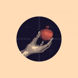 Hand Pomegranate Logo