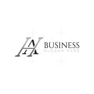 Initials Ha Or Ah Logo