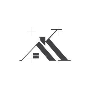 Letter Ak Home Logo