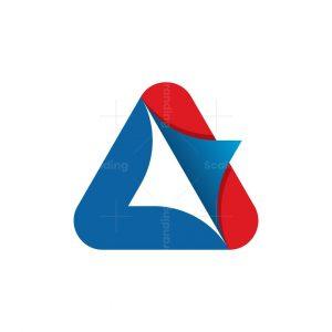 Letter A Coding Logo