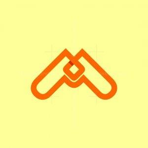 Modern M Knot Logo