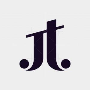 Monogram Letter Jt Logo