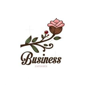 Rose Cupcake Logo