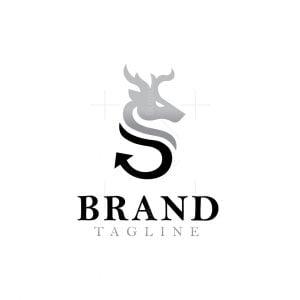 Letter S Deer Logo
