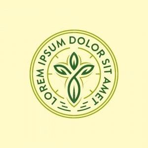 Leaf Cross Logo