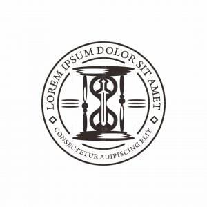 Sword And Hourglass Logo