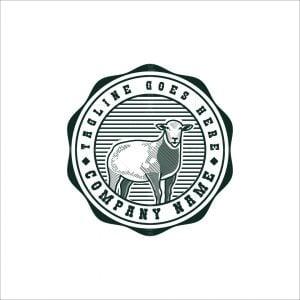 Sheep Engraved Logo