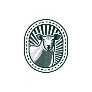 Sheep Face Engraved Logo