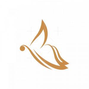 Simple Minimalist Butterfly Logo