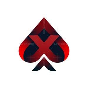 Letter X Ace Logo