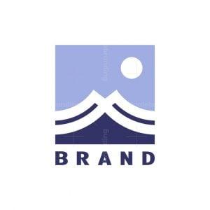 Letter M Mountain Or Ocean Wave Logo