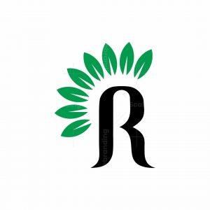 Letter R Nature Logo