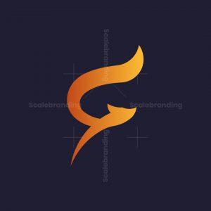 Letter F Fox Logo
