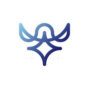Line Bird Face Logo