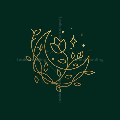 Moon Flower Logo