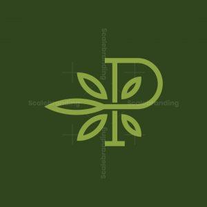 Letter P Cannabis Logo