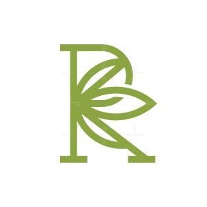 Letter R Cannabis Logo