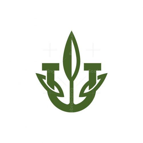 Letter U Cannabis Logo