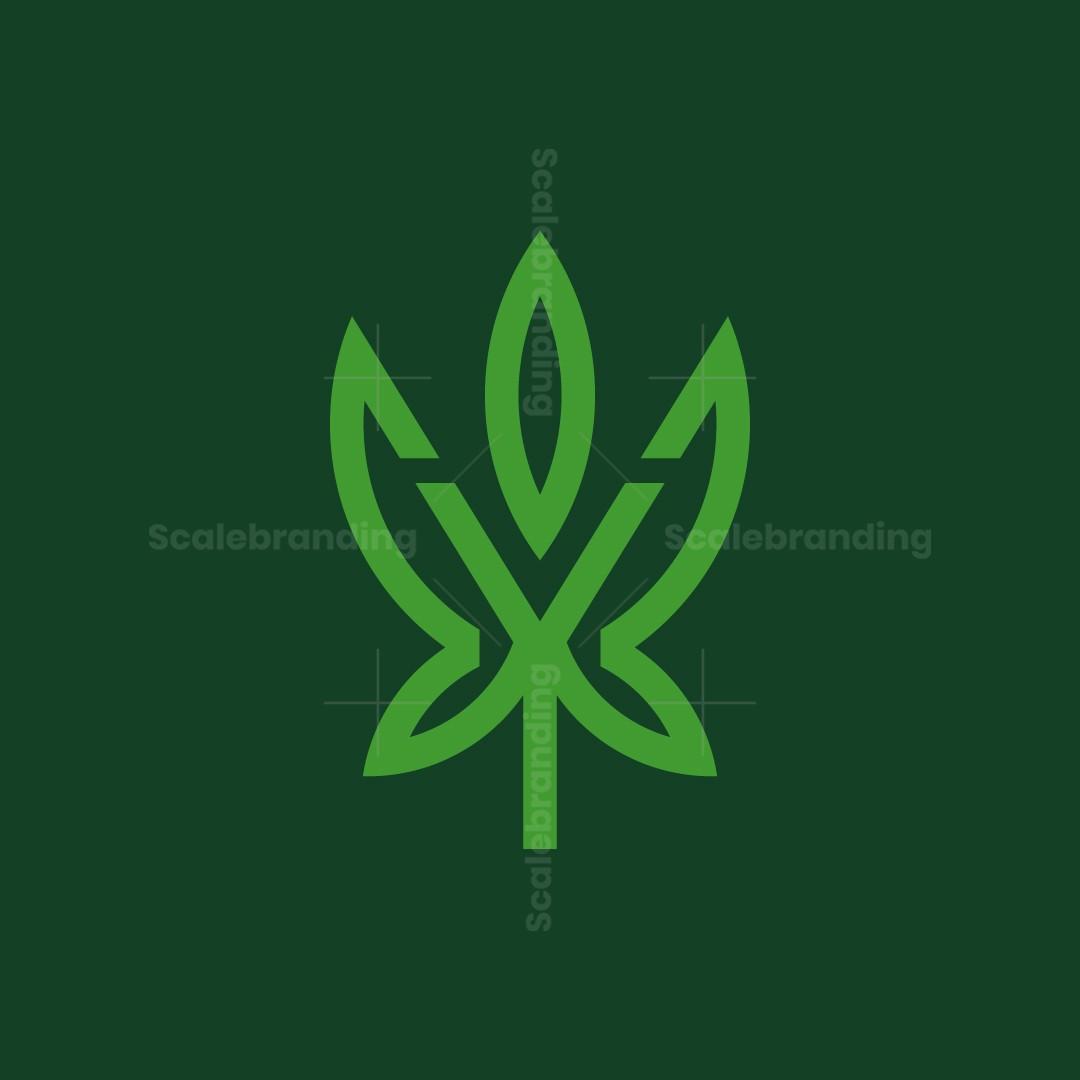 Letter Y Cannabis Logo