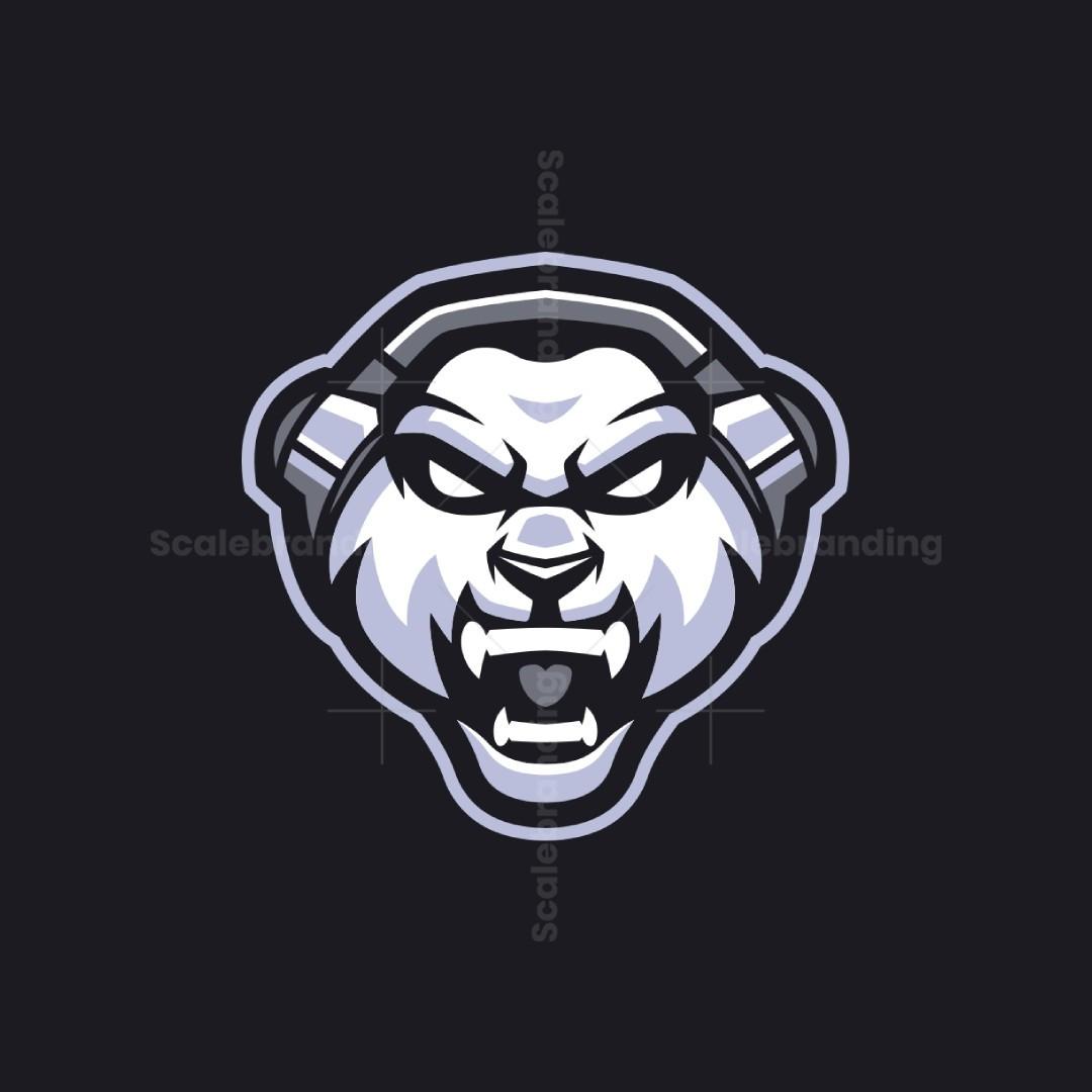 Angry Panda Mascot Logo