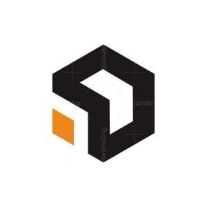 Arrow Hexagon Abstract Logo