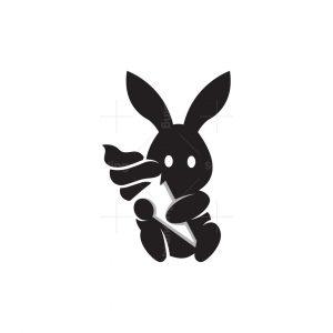 Bunny And Ice Cream Logo
