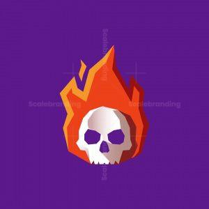 Burning Skull Logo