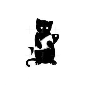 Cat And Fish Logo
