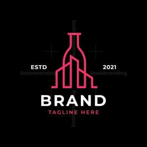 City Wine Bottle Logo