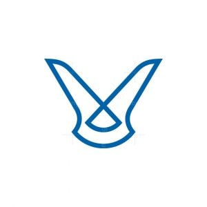 Clever Letter V Logo