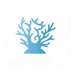 Coral Seahorse Logo