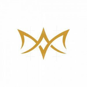 Letter A M Crown Logo