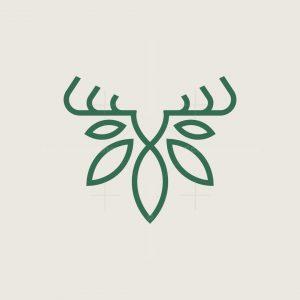 Deer Cannabis Head Logo