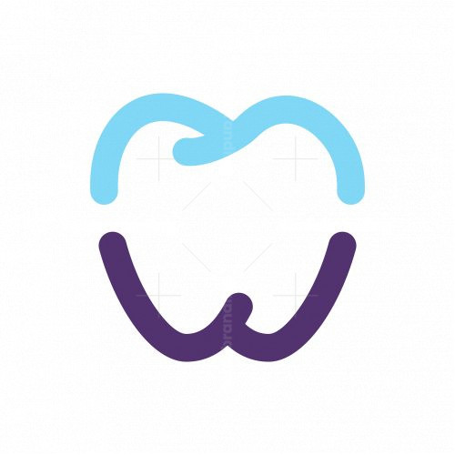 Letter Mw Dental Logo