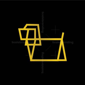 Dog Line Vector Logo