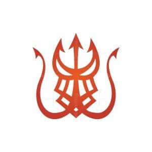 Dragon Head Trident Logo