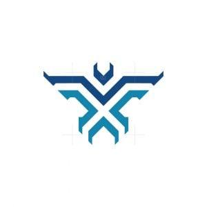 Elegant X Phoenix Logo