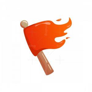 Flag Flames Logo
