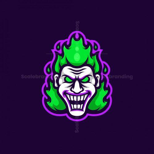 Fire Joker Mascot Logo