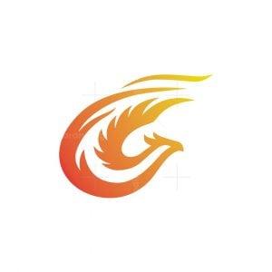 Fire Phoenix Letter C Logo