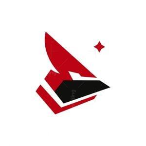Futuristic Cardinal Bird Logo