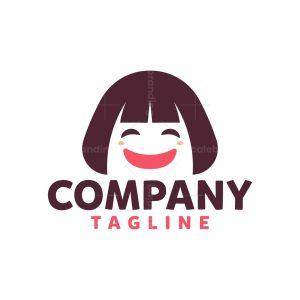 Cute Girl Mascot Logo