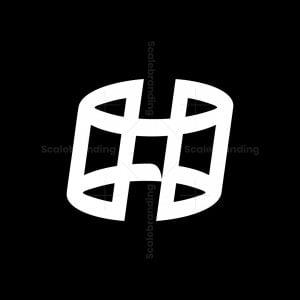 H Hashtag Letter Logos