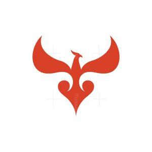Heart Phoenix Logo