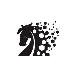 Horse Pixel Logo