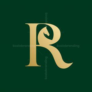 Elegant Letter R Logo With Horse