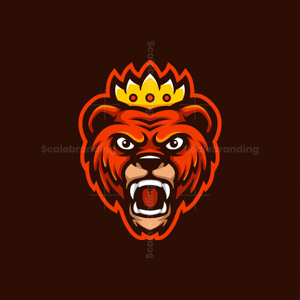 King Bear Mascot Logo