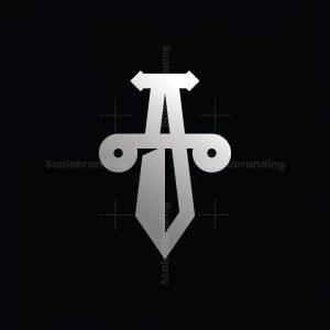 Letter A Sword Logo