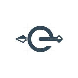 Letter E Spear Logo
