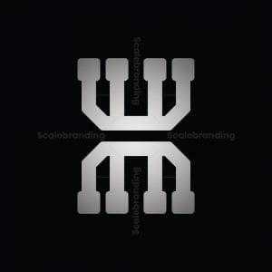 Letter H Chip Logo
